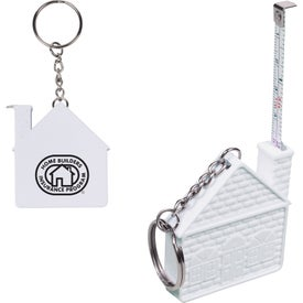 House Tape Measure Key Chain