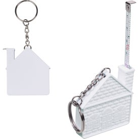 Customizable House Tape Measure Key Chain with Your Logo