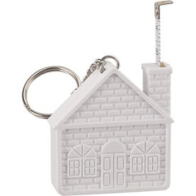 Customizable House Tape Measure Key Chain Imprinted with Your Logo