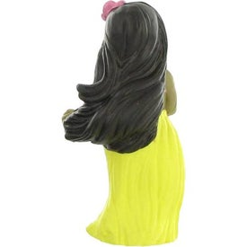 Monogrammed Hula Girl Stress Reliever