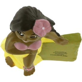 Customized Hula Girl Stress Reliever