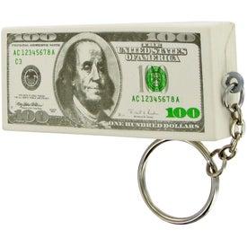 Custom Hundred Dollar Keychain Stress Toy