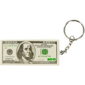 Imprinted Hundred Dollar Keychain Stress Toy