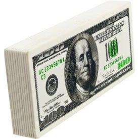 Promotional $100 Bill Stress Ball
