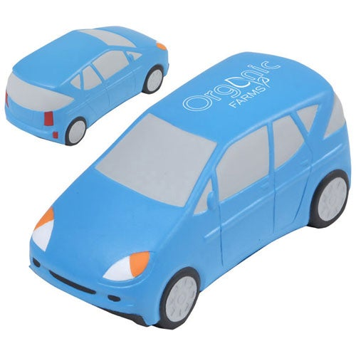 Blue Hybrid Car Stress Ball