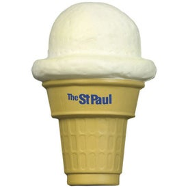 Ice Cream Cone Stress Ball Branded with Your Logo
