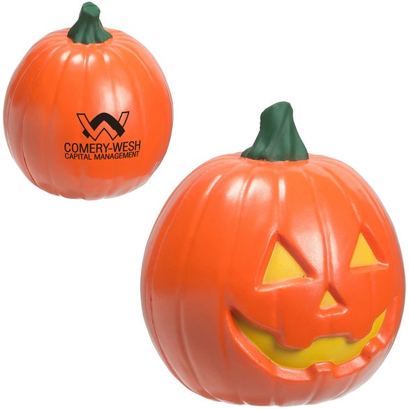 Orange Jack'O Lantern Stress Ball