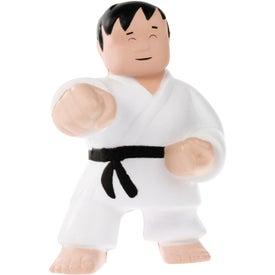 Branded Karate Man Stress Ball