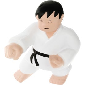 Karate Man Stress Ball Printed with Your Logo