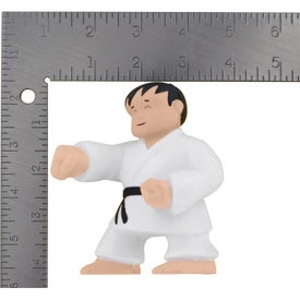 Branded Karate Man Stress Ball