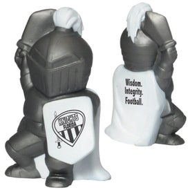 Monogrammed Knight Mascot Stress Ball