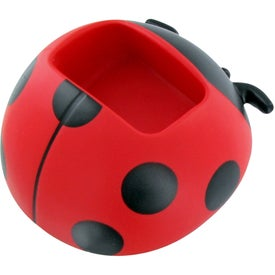 Lady Bug Cell Phone Holder Stress Toy with Your Slogan