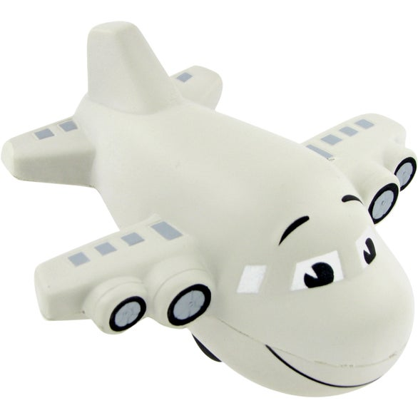 Cool Gray Large Airplane Stress Toy