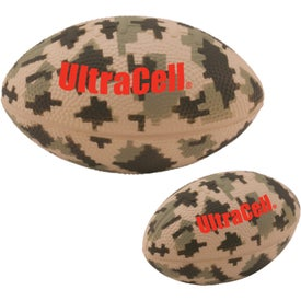 "Large Digital Camouflage Football Stress Ball (Economy, 5"")"