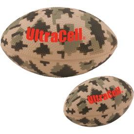 "Large Digital Camouflage Football Stress Ball (Economy, 5"")"