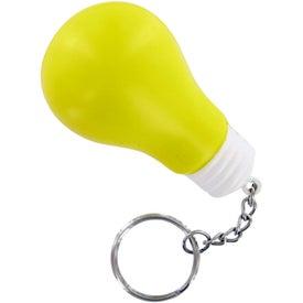 Light Bulb Keychain Stress Toy