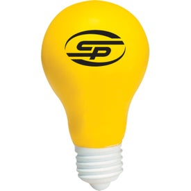 Light Bulb Stress Ball with Your Logo