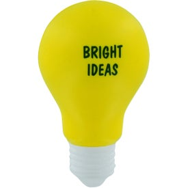 Branded Light Bulb Stress Ball