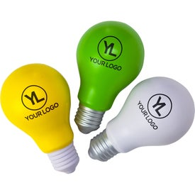 "Light Bulb Stress Ball (4"" x 2.25"" Dia.)"