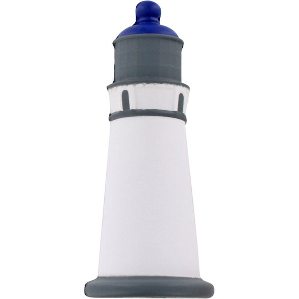 White / Gray / Blue Lighthouse Stress Ball