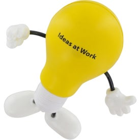 Lightbulb Figure Stress Ball Imprinted with Your Logo