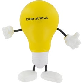 Lightbulb Figure Stress Ball Printed with Your Logo