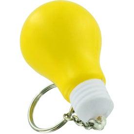 Light Bulb Stress Ball Key Chain for Marketing