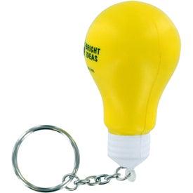 Logo Light Bulb Stress Ball Key Chain