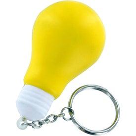 Light Bulb Stress Ball Key Chain for Promotion