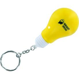 Light Bulb Stress Ball Key Chain