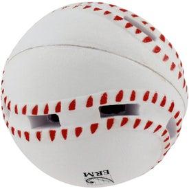 Monogrammed Light-Up Baseball Stress Reliever
