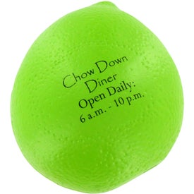 Branded Lime Stress Ball
