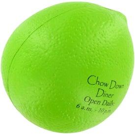 Printed Lime Stress Ball