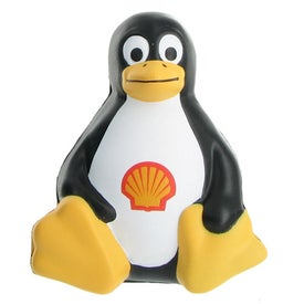 Sitting Penguin Stress Ball Branded with Your Logo