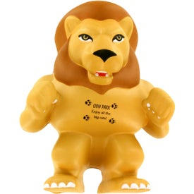 Customized Lion Mascot Stress Ball