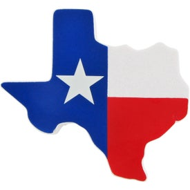 Imprinted Lone Star State Stress Ball