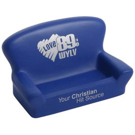 Loveseat Cell Phone Holder Stress Ball Printed with Your Logo