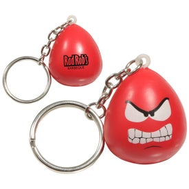 Mood Maniac Stress Ball Key Chain (Angry)