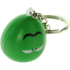 Imprinted Mood Maniac Stress Ball Key Chain