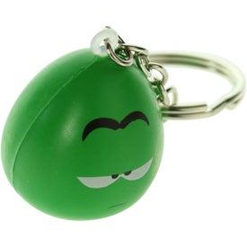 Imprinted Mood Maniac Stress Ball Key Chain