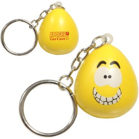 Mood Maniac Stress Ball Key Chain (Happy)