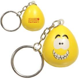 Mood Maniac Stress Ball Key Chain (Happy)