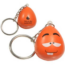 Mood Maniac Stress Ball Key Chain with Your Logo
