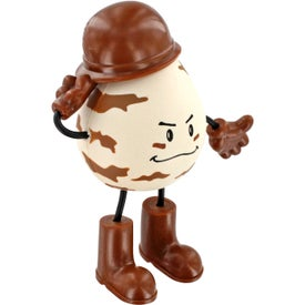Promotional Military Figure Stress Ball