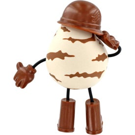 Logo Military Figure Stress Ball