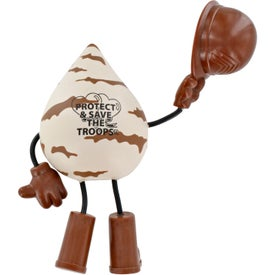 Military Figure Stress Ball Imprinted with Your Logo