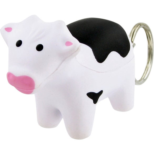 Milk Cow Keychain Stress Toy