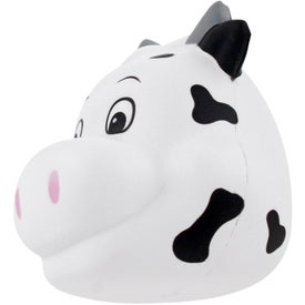 Milk Cow Funny Face Stress Ball Imprinted with Your Logo