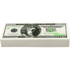 Million Dollar Bill Stress Ball Branded with Your Logo