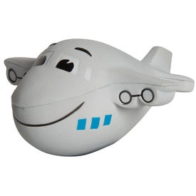 Mini Air Plane Stress Reliever with Smile